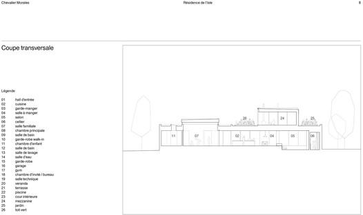 Résidence de l'Isle de Chevalier Morales: un carré parfait