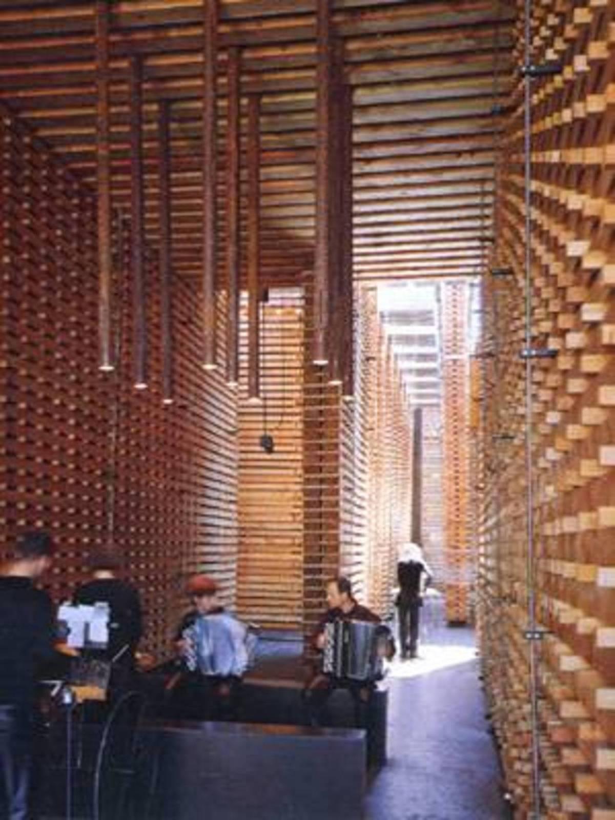 P. Zumthor Pavillon Suisse à l'Expo 2000 de Hanovre