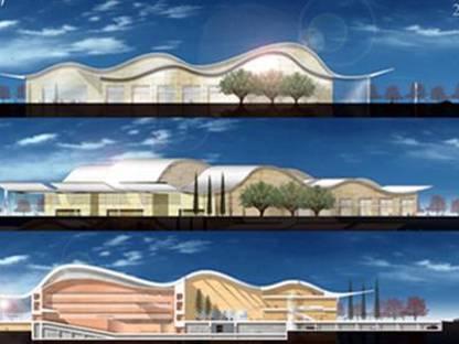 Ricardo Bofill: Villa Cultural de Prado<br> Valladolid, en construction