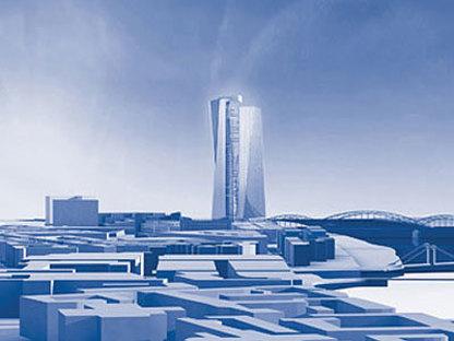 Coop Himmelb(l)au, Nouveau siège de la BCE. Francfort.