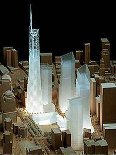 New York, Freedom Tower.<br> Daniel Libeskind et David Childs. 2005