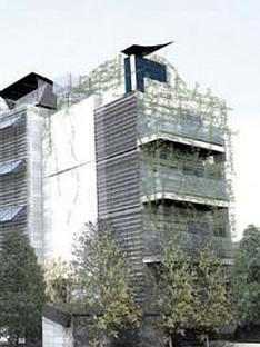 Rome, Maisons bioécologiques.<br> Marcello Marocco, Thomas Herzog. 2005