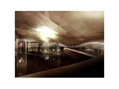 Paris. Musée de l'art islamique du Louvre. Mario Bellini et Rudy Ricciotti. 2005