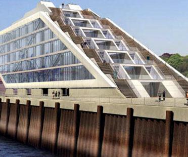 Bâtiments administratifs de Dockland. Hambourg<br> Brt Architekten. 2005