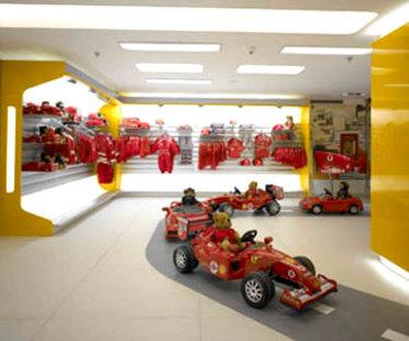 Boutique Ferrari Milan. <br>Massimo Iosa Ghini. 2005