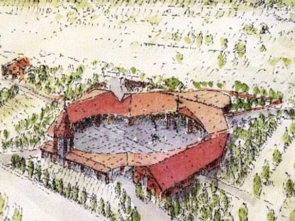 Centre Paroissial Santa Maria in Zivido. San Giuliano Milanese (Mi). Gabetti & Isola.<br />