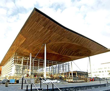 National Assembly for Wales <br> Richard Rogers PartnershipCardiff, en construction