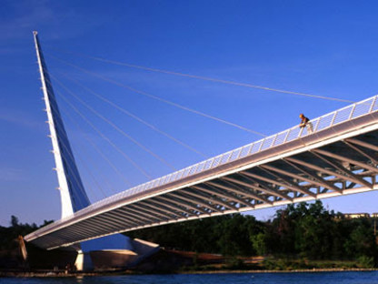 Sundial Bridge. Redding (Californie). Santiago Calatrava. 2004