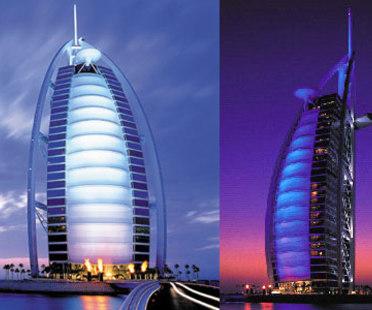 Hôtel Burj al Arab, Thomas Wills Wright. Dubaï. 1999