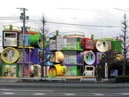 Reversible destiny lofts. Tokyo. Shusaku Arakawa et Madeline Gins. 2005