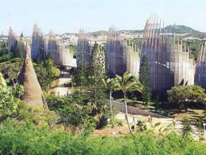 Centre culturel Jean-Marie Tjibaou. Nouvelle Calédonie. Renzo Piano, 1998