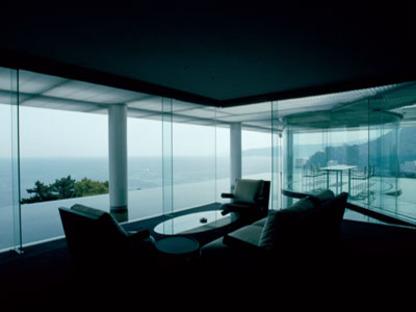 Kengo Kuma. Water/Glass House. Atami, préfecture de Shizuoka. 1995
