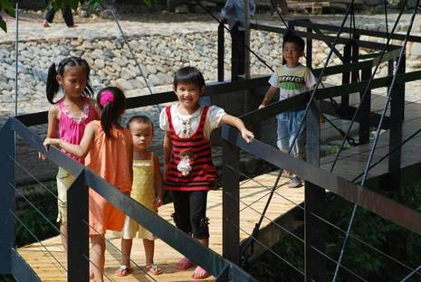 Li Xiaodong et l'école sur le pont