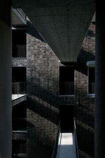 Corridors reliant les appartements aux différents étages