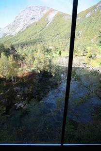 View of the river from inside