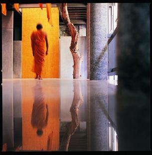 Un musée du temple bouddhiste en Thaïlande