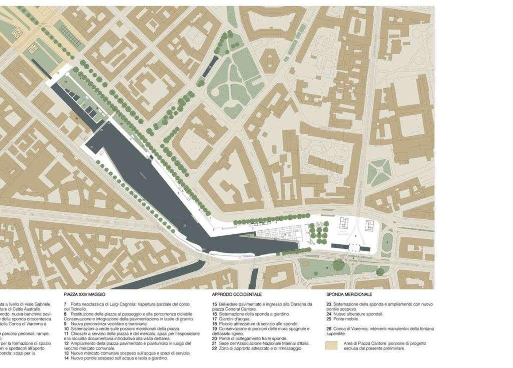 Milan et l'Expo : requalification de la Darsena
