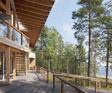 Koponen: maison sur le lac Saimaa en Finlande
