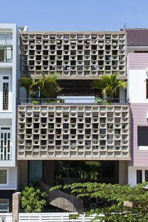 Vo Trong Nghia Architects: maison en béton à Binh Thanh (Ho Chi Minh)