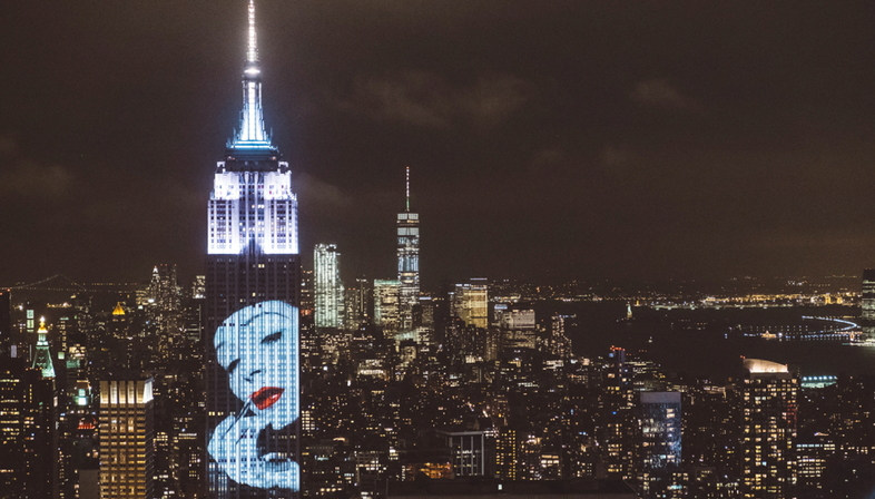 Fashion Photography sulla skyline di New York