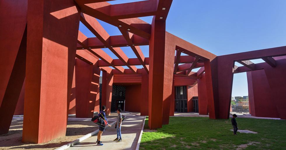 Sanjay Puri Architects has designed The Rajasthan School