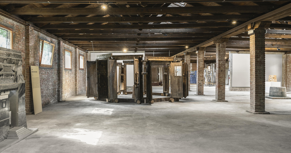 Hakka earthen houses on display at the 17th Venice Architecture Biennale