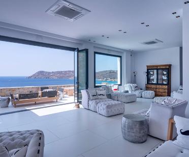 Hôtels et resorts à Mykonos avec des carrelages Ultra Ariostea