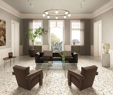 Nouvelles collections FMG : revivez le charme du terrazzo alla veneziana avec Venice Villa.