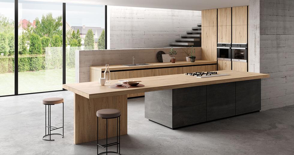 Plans de cuisine effet bois : la nouvelle collection Rovere de SapienStone