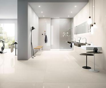 Effet marbre, pierre, résine et béton : les solutions céramiques Fiandre et Aqua Maximum