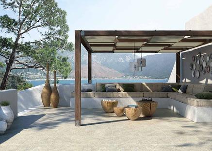 Revêtements Porcelaingres pour extérieur : effet pierre, béton et bois