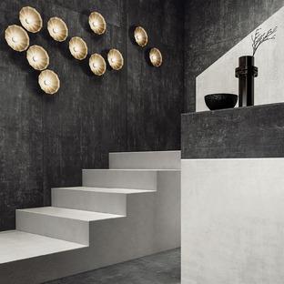 Hi Lite d'Iris Ceramica : de grandes dalles s'inspirant des bétons, des résines et des métaux.