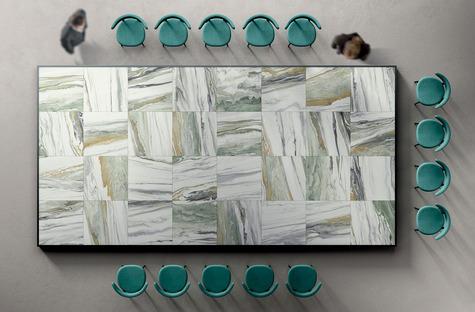 La beauté de l'ensemble et le charme des détails : surfaces Liquid Cosmo et Cosmic Marble