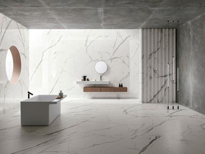 Les céramiques techniques effet marbres blancs d'Ariostea : des produits parfaits pour les meubles et les revêtements