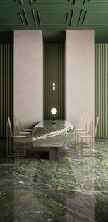 Les surfaces céramiques de Fiandre pour des sols, des revêtements et de l'ameublement sur mesure effet marbre