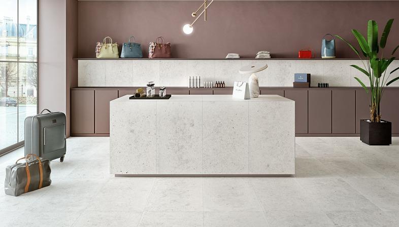 Harmonie et équilibre entre matériaux différents: la collection Whole d'Iris Ceramica