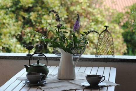 Terrasse. Avec l'aimable autorisation de Cristina Rebeccani Corretti