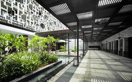 Centre touristique, île de Hainan (Hainan Dao), Chine. Projet: WOHA.