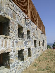Sols en pierre dans un édifice religieux de Maremme