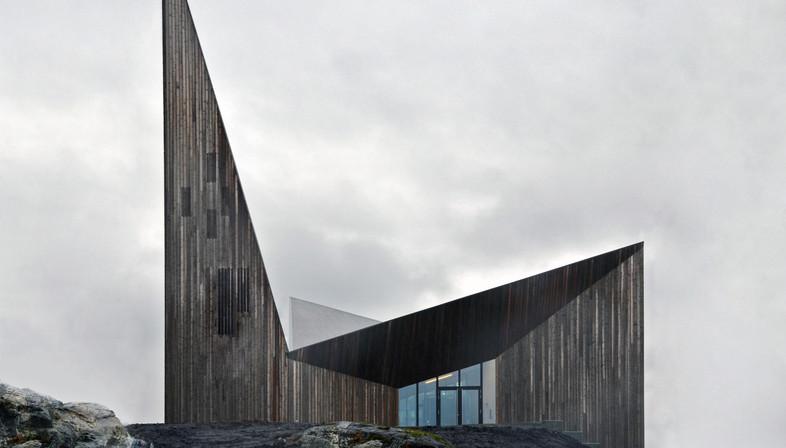 Église en bois au cœur des collines de Knarvik