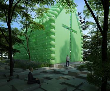 Green chapel en plastique