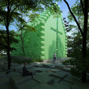 Green chapel en plastique