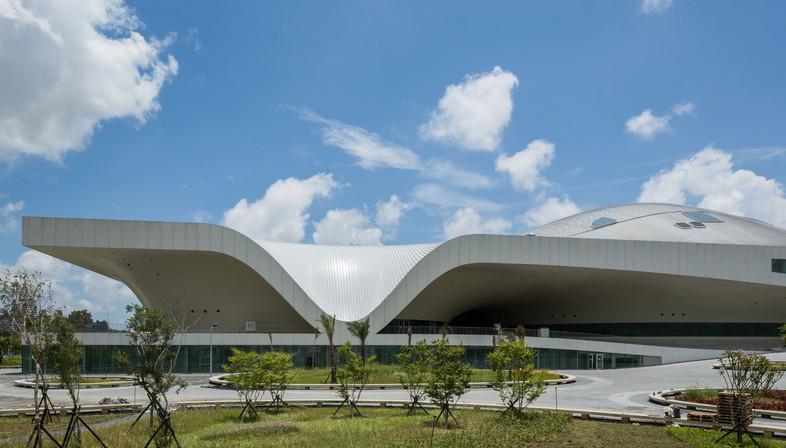 Le centre d'art de Kahosiung à Taïwan : une ville couverte de métal.