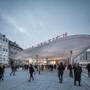 Abris en béton projeté pour la Nørreport Station de Copenhague – COBE architects.