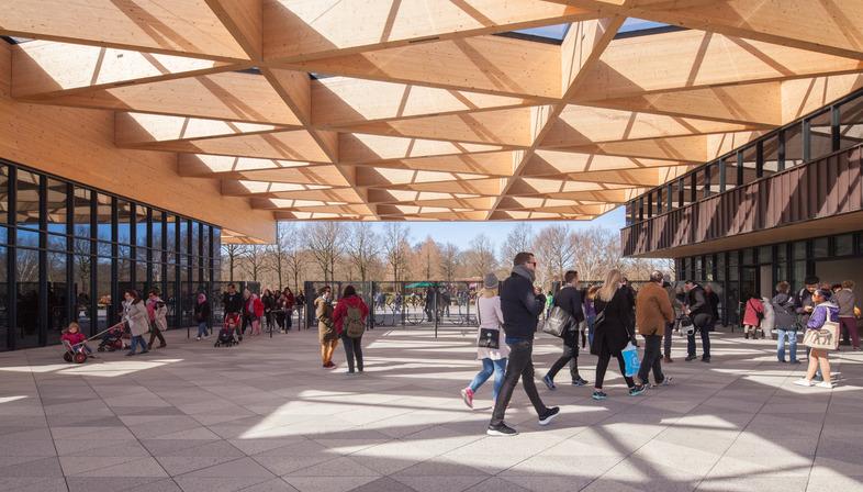 Structure en bois pour la nouvelle porte d'entrée du Jardin de Keukenhof - Mecanoo Architectenen