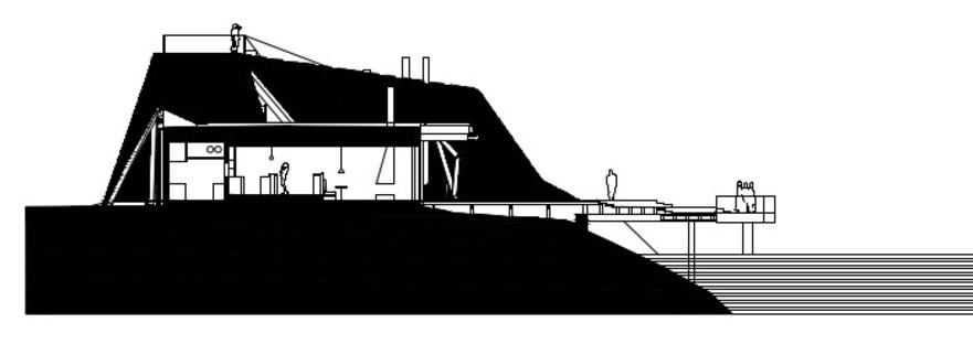 Coupole en lamelles de bois pour le restaurant-sauna signé Avanto Architects