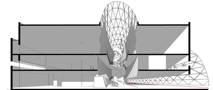Béton et sphère d'acier et de verre pour le Musée Dali de St. Petersburg en Floride par HOK
