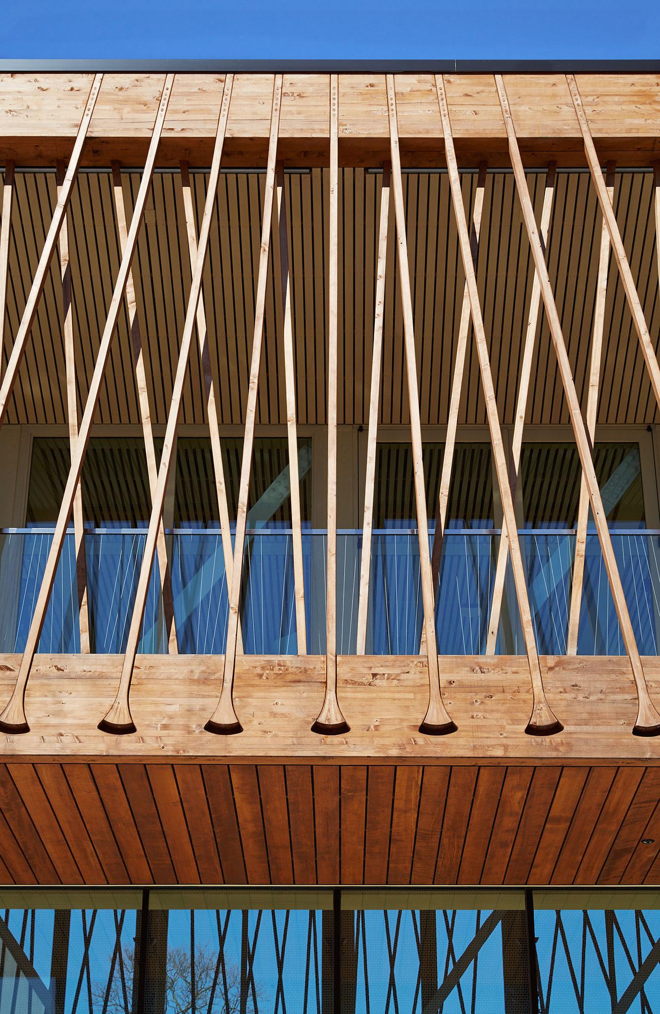 Structure tendue en bois pour le Writers Theatre de Studio Gang