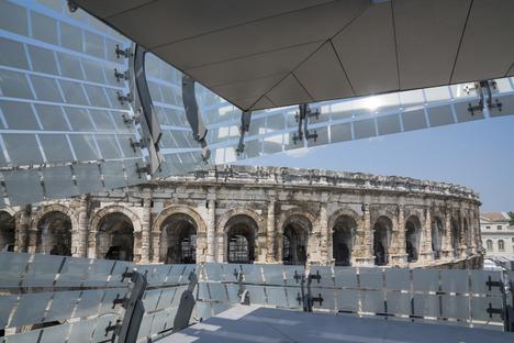 Le Musée de la Romanité d'Elizabeth De Portzamparc à Nîmes et sa façade en verre sérigraphié