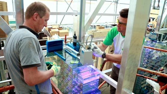 La Crystal House de MVRDV : une façade en briques de verre